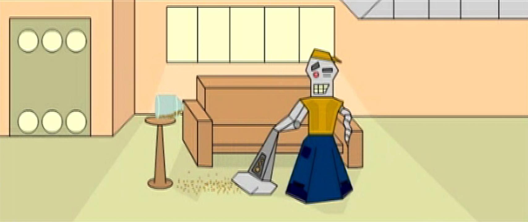 Humorous Vacuum Robot
